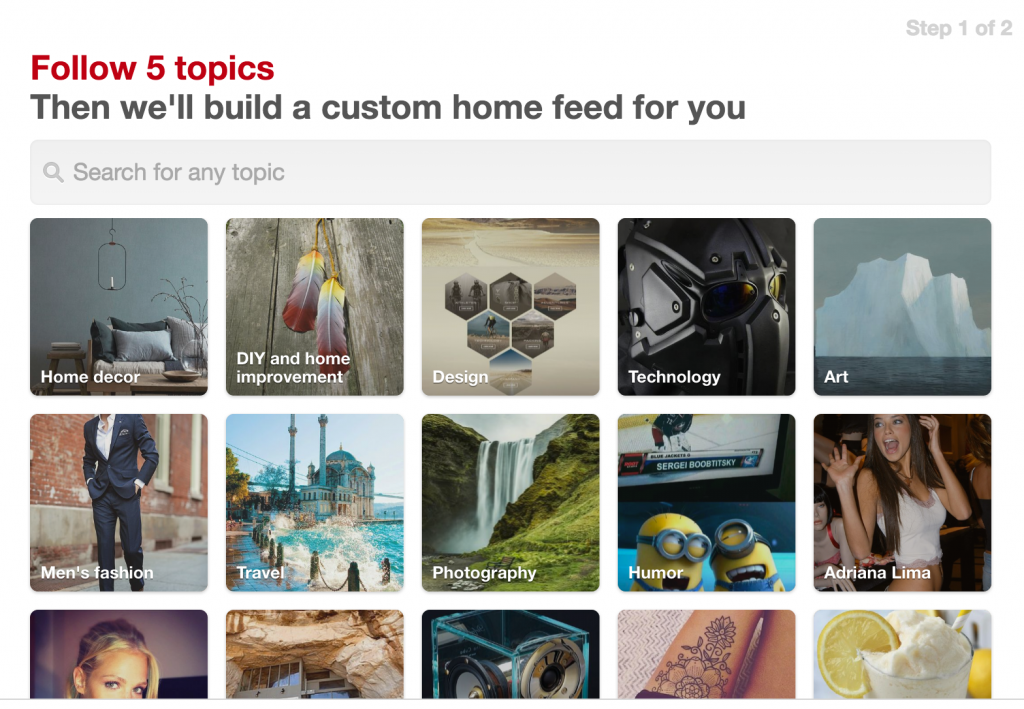 pinterest who to follow