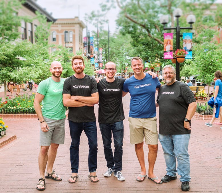 Part of the Stream team outside its office in Boulder