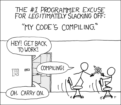 XKCD - Code compiling before Go