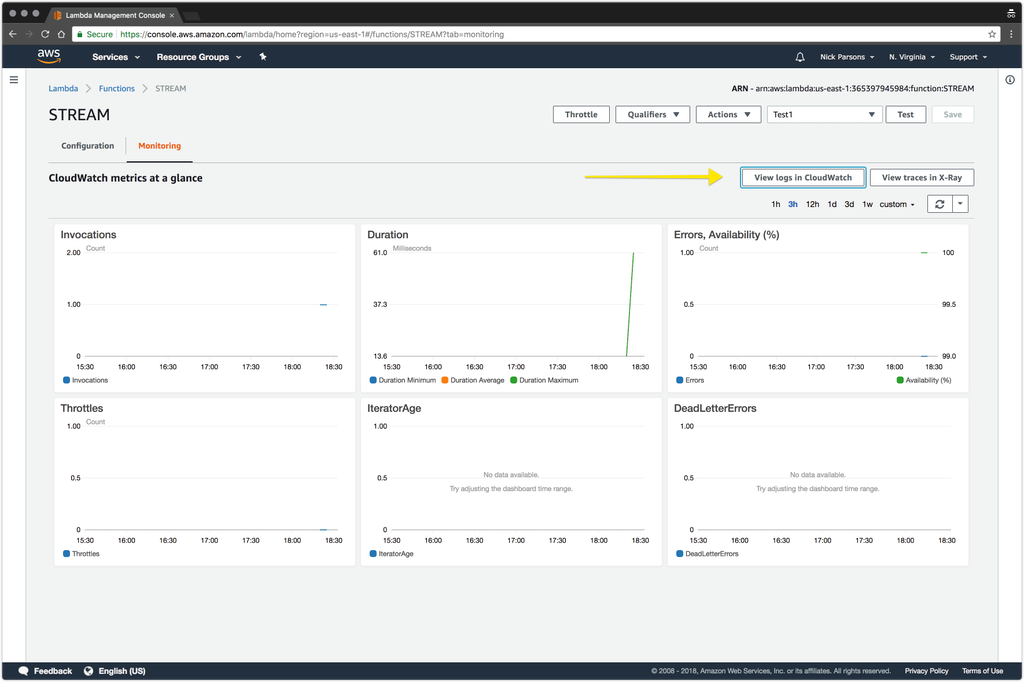 Using the Stream Real-Time Firehose with AWS SQS, Lambda, and SNS