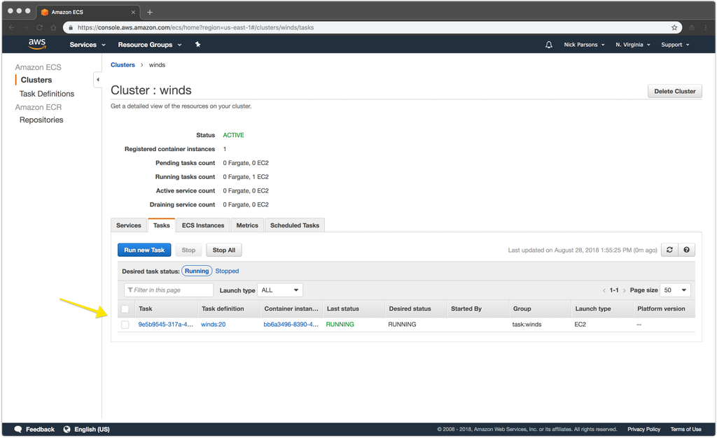 Deploying the Winds API to AWS ECS with Docker Compose - The