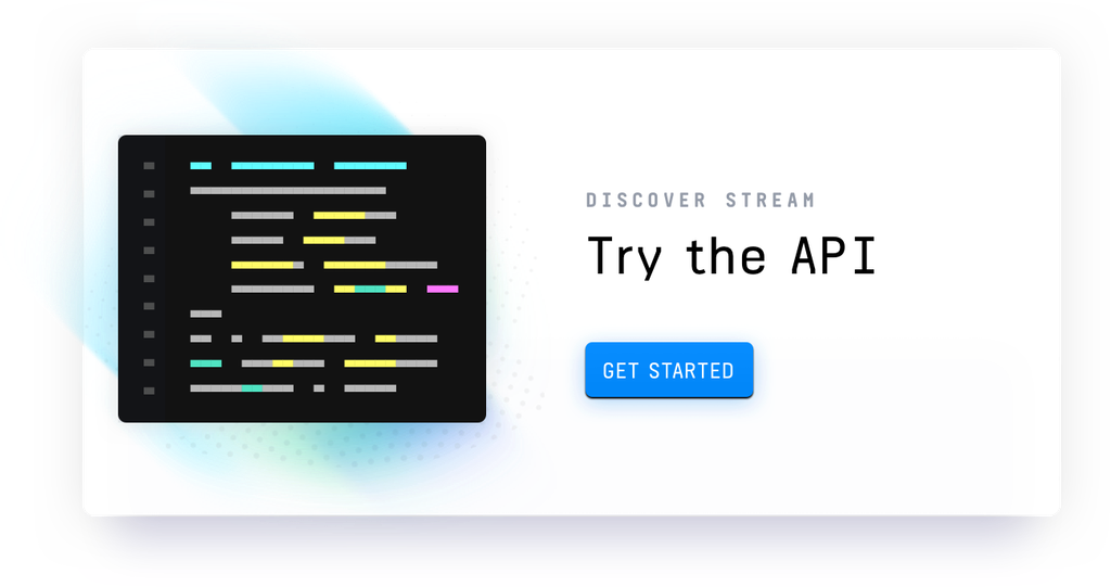 Try Stream's API