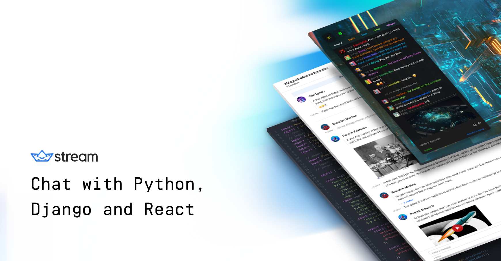 Tutorial: Build Chat with Python - The Stream Blog